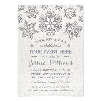 Elegant Snowflake Any / All Occasion Invitation
