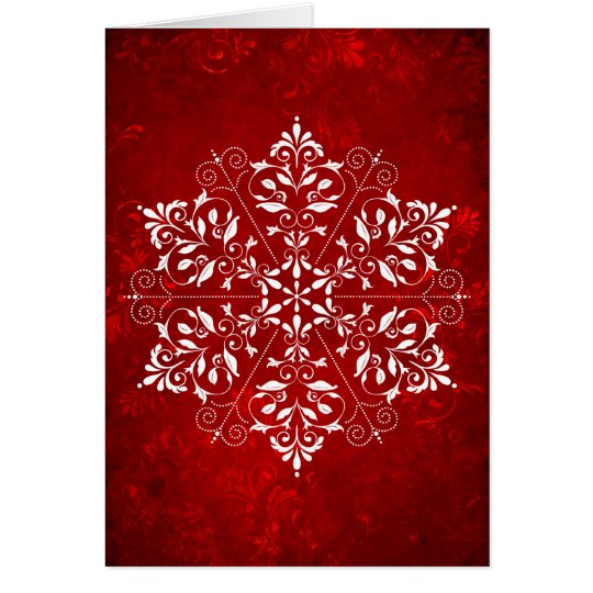 Elegant Snowflake Christmas Card