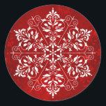 """Elegant Snowflake Christmas Stickers<br><div class=""""desc"""">These Christmas stickers are decorated with an elegant snowflake.</div>"""