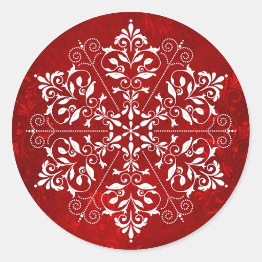 Elegant Snowflake Christmas Stickers