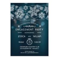 Elegant Snowflake Engagement Party Invitation