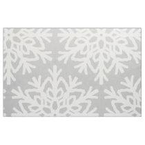 Elegant Snowflake Pattern Fabric