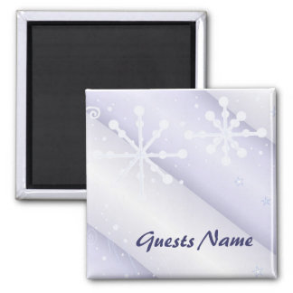 Elegant Snowflake Place Holder 2 Inch Square Magnet