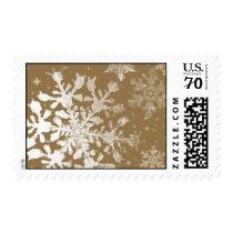 Elegant Snowflake Stamp - Gold