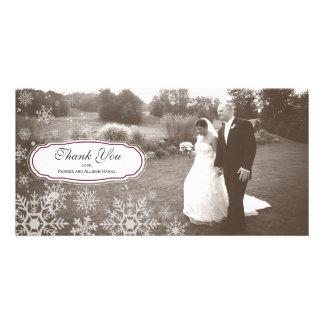 Elegant Snowflake Wedding Thank You Card