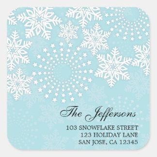 Elegant Snowflakes 4 - holiday address label Sticker