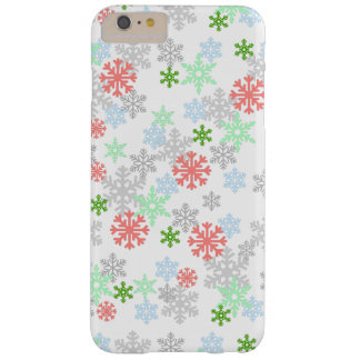 Elegant Snowflakes Barely There iPhone 6 Plus Case