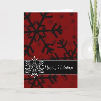 Elegant Snowflakes card