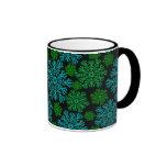 Elegant Snowflakes Winter Pattern Ringer Coffee Mug