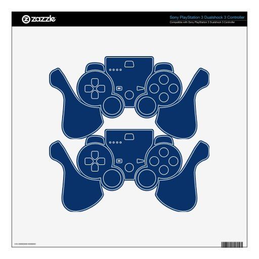 Elegant Sodalite Blue - Fashion Color Trending Decal For PS3 Controller