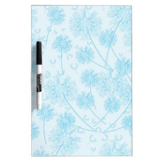 Elegant Soft Blue Dandelion Dry-Erase Boards