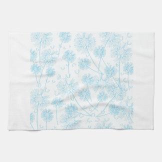 Elegant Soft Blue Dandelion Towel