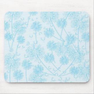 Elegant Soft Blue Dandelion Wedding Mouse Pad
