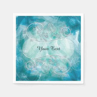 Elegant Soft Blue Paper Napkin