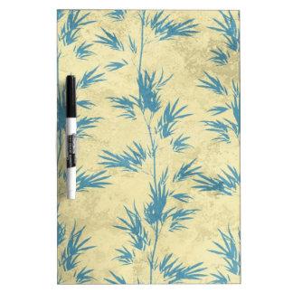 Elegant Soft Floral Bamboo Vines Dry Erase Board