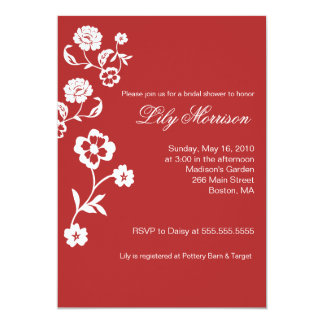 Elegant Soft Flower 5x7 Bridal Shower Invitation