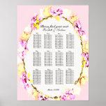 elegant soft flower floral seating charts