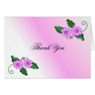 Elegant Soft Mauve Floral Thank You Card