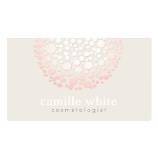 Elegant Soft Pink Circles Spa and Salon Business Card