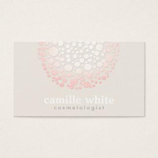 Elegant Soft Pink Circles Spa and Salon Business Card