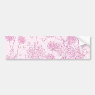 Elegant Soft Pink Dandelion Bumper Stickers