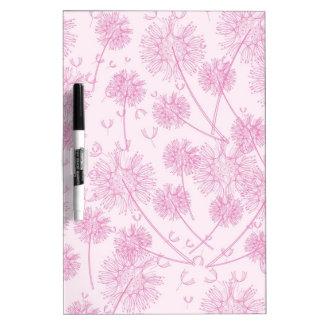 Elegant Soft Pink Dandelion Dry Erase Whiteboards