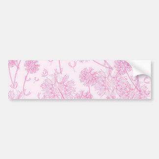 Elegant Soft Pink Dandelion Wedding Bumper Sticker