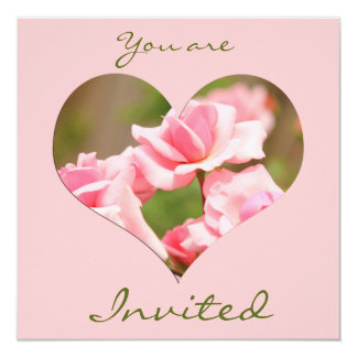 Elegant Soft Pink Fragrant Roses Invitation