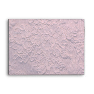 Elegant Soft Pink Lace Wedding Envelope