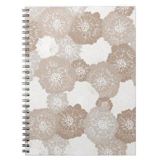 Elegant Soft Vintage Floral Pattern Journals