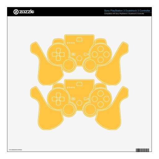 Elegant Solar Power Yellow. Fashion Color Trending Decal For PS3 Controller