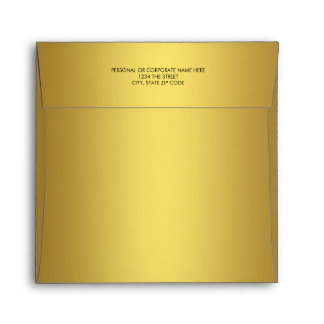 Elegant Solid Gold Linen Envelope