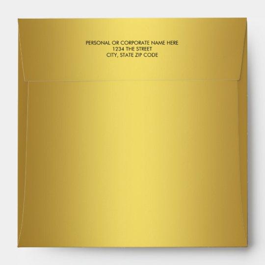 Elegant Solid Gold Linen Envelope