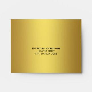 Elegant Solid Gold Linen RSVP Envelope