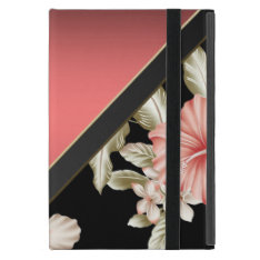 Elegant Sophisticated Coral Red -flowers Cover For Ipad Mini at Zazzle