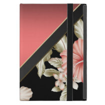 Elegant Sophisticated Coral Red -Flowers iPad Mini Case