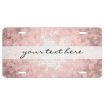 elegant sophisticated girly rose gold pattern license plate