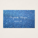 Elegant Sophisticated Modern Glittery Bokeh Business Card