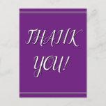 "[ Thumbnail: Elegant & Sophisticated ""Thank You!"" Postcard ]"
