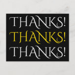 "[ Thumbnail: Elegant & Sophisticated ""Thanks!"" Postcard ]"