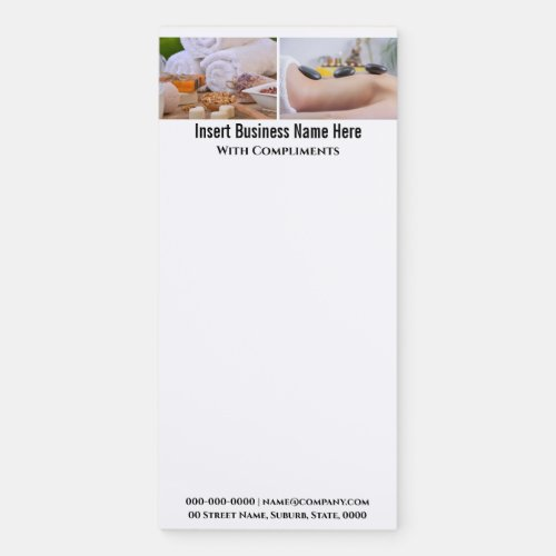 Elegant spa 2 photo DIY business office Magnetic Notepad