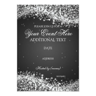 Elegant Sparkle / Sparkling Template Party 5x7 Paper Invitation Card