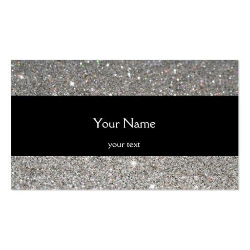 Elegant Sparkles & Glitter Business Card