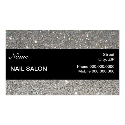 elegant Sparkles & Glitter Nail Salon BusinessCard Business Card Templates
