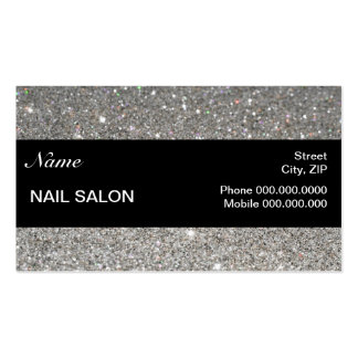 elegant Sparkles & Glitter Nail Salon BusinessCard Double-Sided Standard Business Cards (Pack Of 100)
