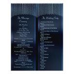 "Elegant Sparkling Chains blue Wedding Programs 8.5"" X 11"" Flyer"
