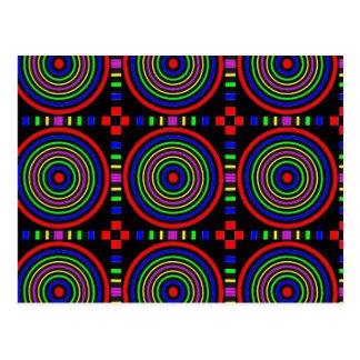 Elegant Sparkling Circles : Energy at work Postcard