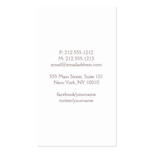 Elegant Sparkling Dot Pattern in Blush Business Card Template (back side)