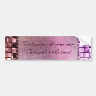 Elegant Sparkling Purple Custom Frame Designs Bumper Sticker