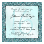"Elegant Sparkling Teal Sweet 16 Glitter Invite 5.25"" Square Invitation Card"